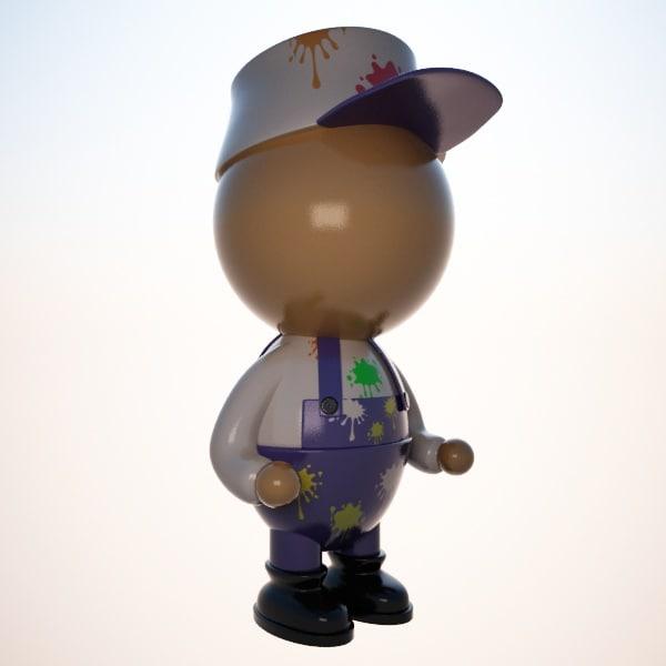 painter character cartoon max