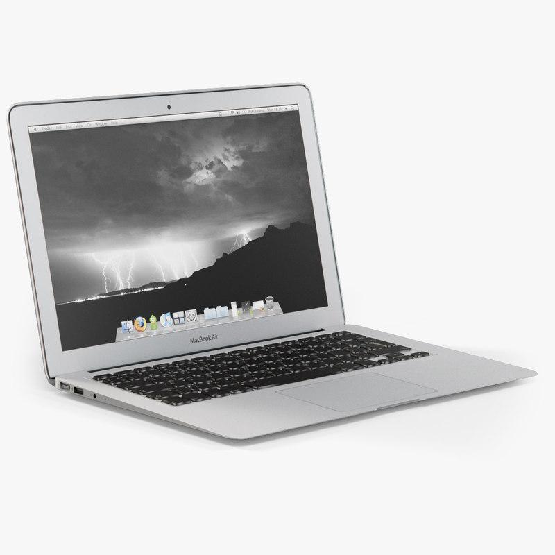 max low-poly apple macbook air