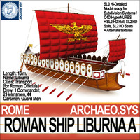 c4d ancient roman ship liburna