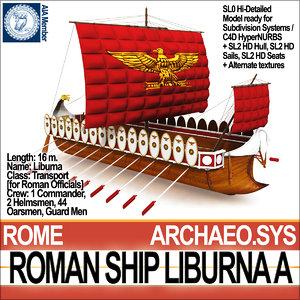 c4d ancient roman ship liburna