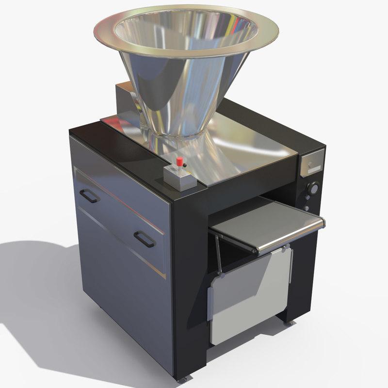 3d model vacuum dough divider