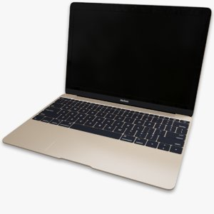 3d model of apple macbook 2015
