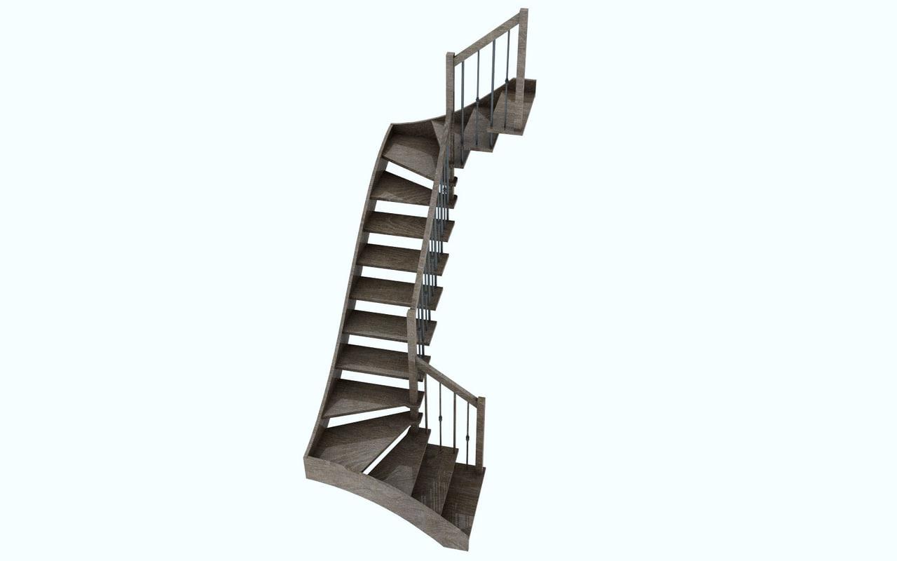 interior stairs c4d free
