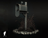 3d model zbrush mailbox