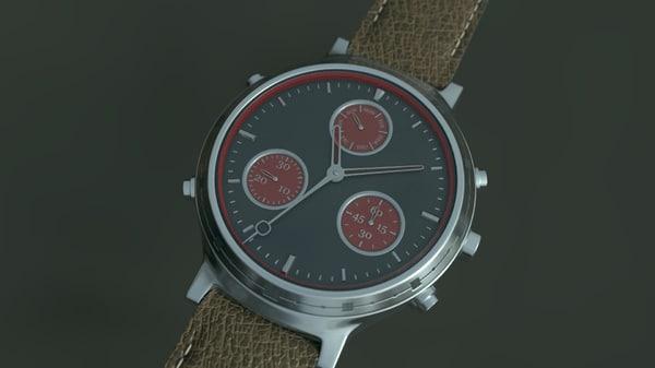 hand watch 3d blend