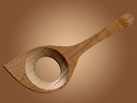 wooden spoon 3d obj