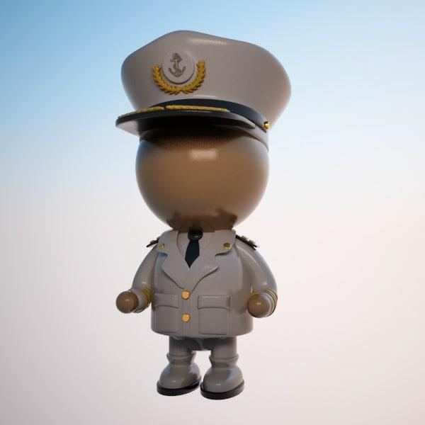 captain character ship 3d max