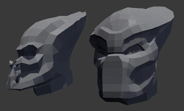 predator pepakura 3d blend