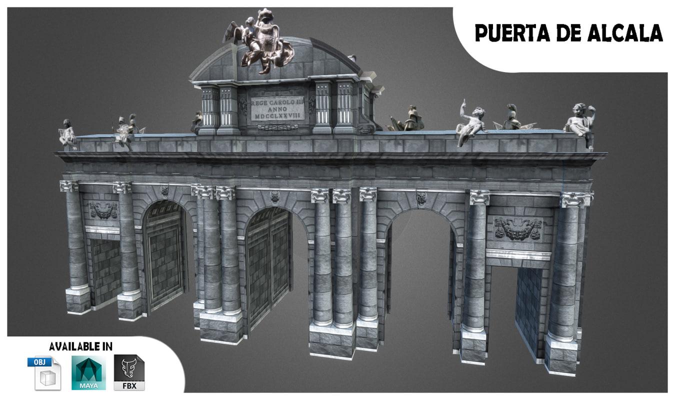 3ds max monument madrid spain