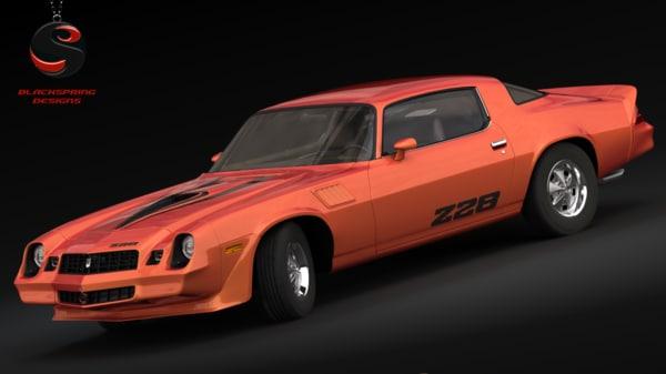 3d model chevrolet camaro z28 1979