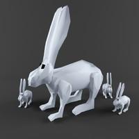 Low Poly Rabbit Game asset