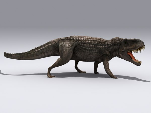 saurosuchus triassic 3d max