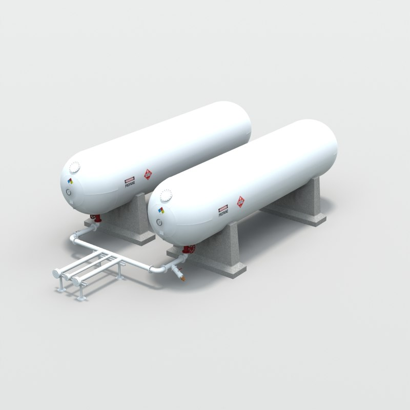 gallon propane tanks obj