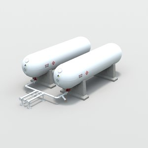 gallon propane tanks obj