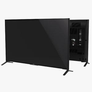 3d model sony 65 inch 4k