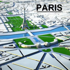 paris city 3d max