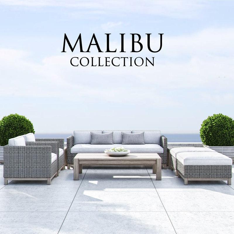 restoration hardware malibu 3d max