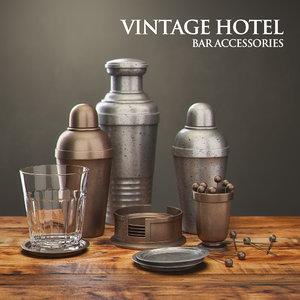 restoration hardware vintage hotel 3d model