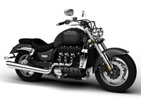 3d triumph rocket iii roadster model