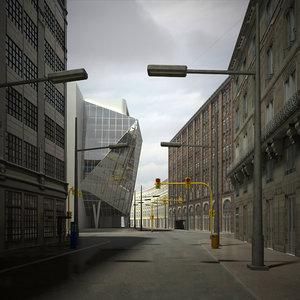3d model of urban scene