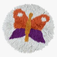 obj carpet butterfly