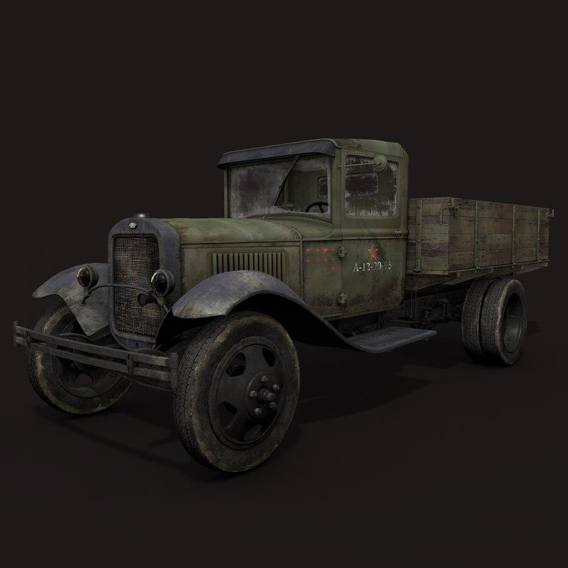 gaz-aa truck c4d