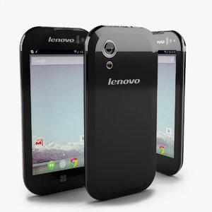 3d model unissued smartphone lenovo