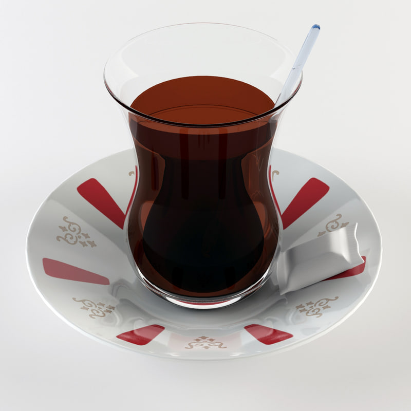 cup glass tea 3d model