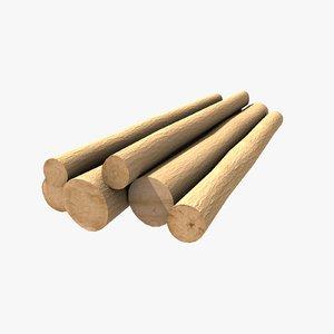 3d tree logs model