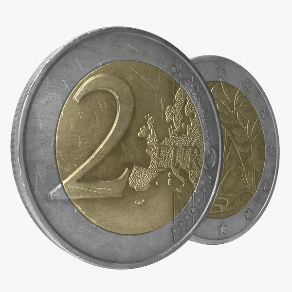 2 euro coin italy ma