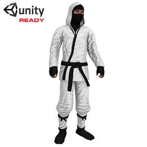 3ds max rigged ninja ready