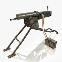 3d model maschinengewehr 08 mg