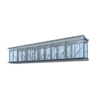 3d architectural skybridge model