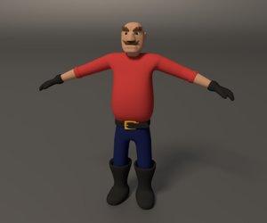 3d model cartoon character toon