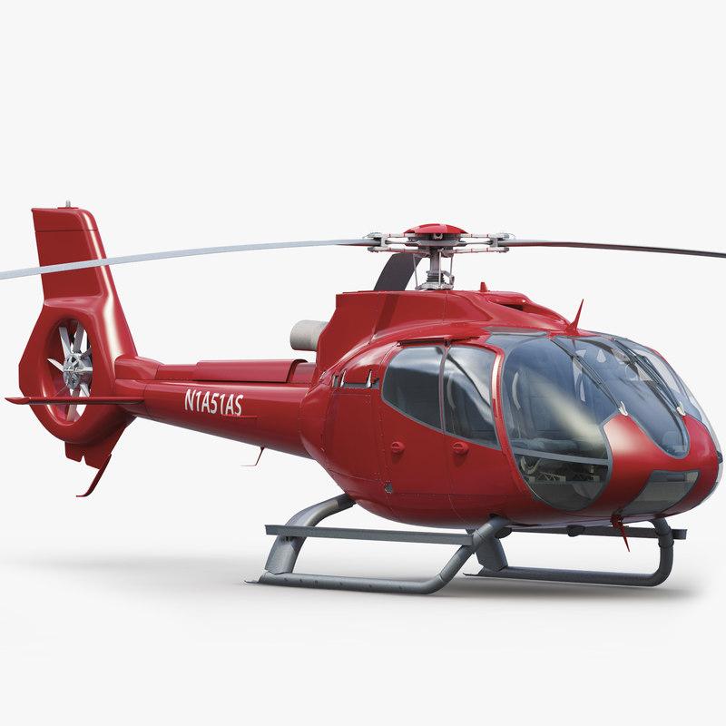 h 130 helicopter interior obj