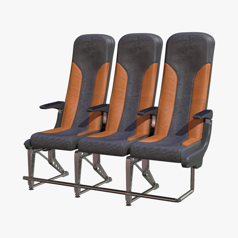 business airplane seat 3d obj