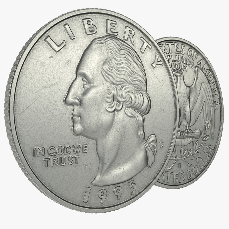 3d model quarter modeled realistic