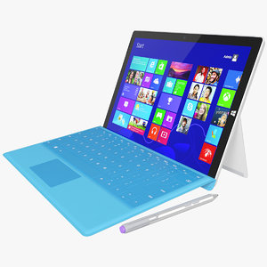 realistic microsoft surface 3 3d model