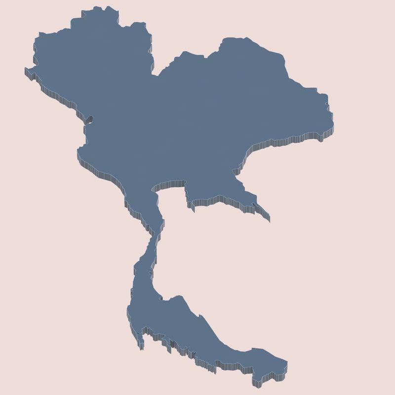 3d model thai thailand land