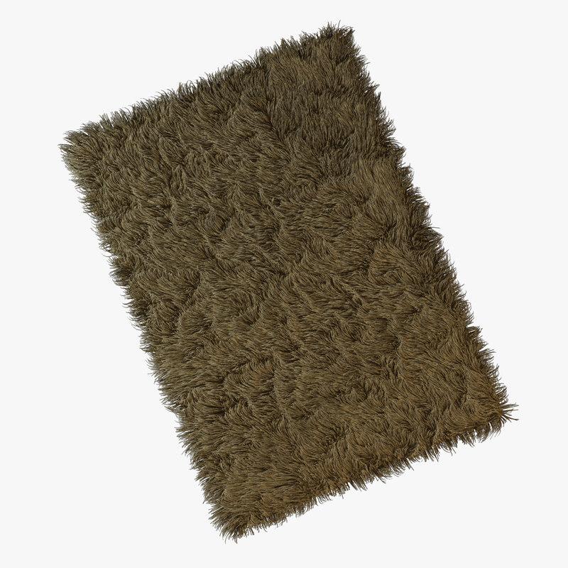 3d model of carpet pile