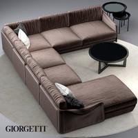 sofa giorgetti fabula obj