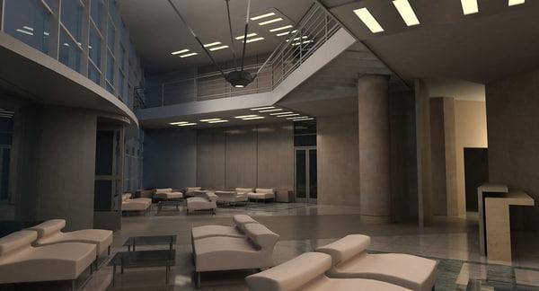 3d modern interior model