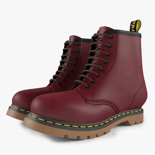 red boots 3d model