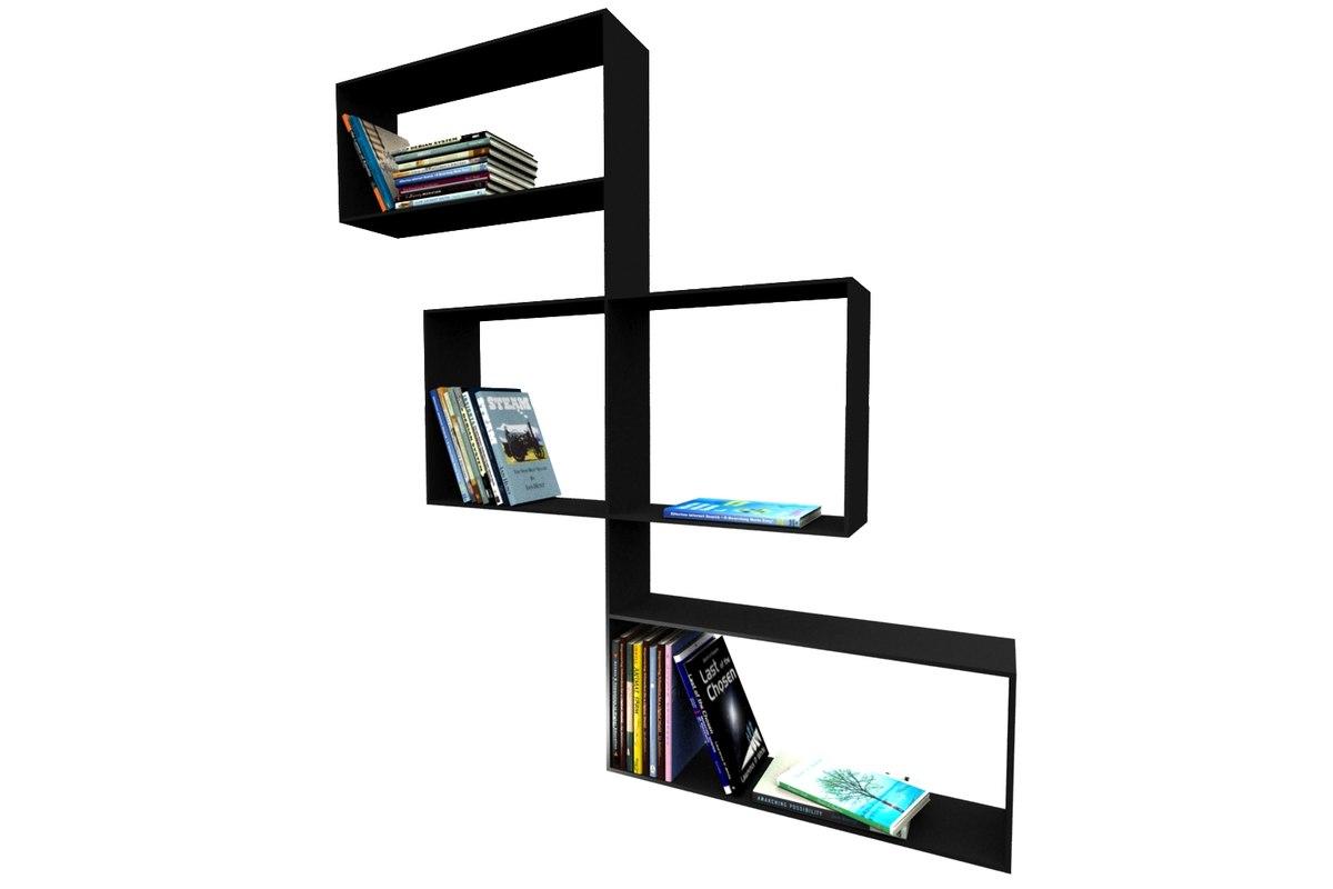 3d wall bookshelf model
