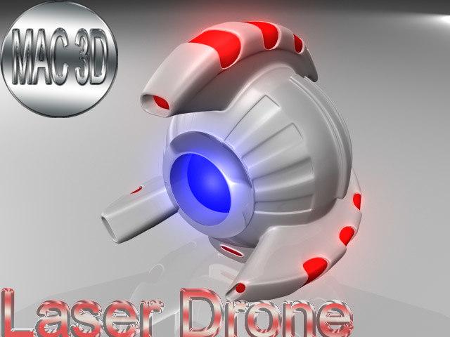 c4d laser drone