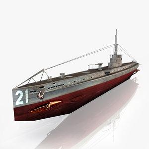 u 21 submarine max