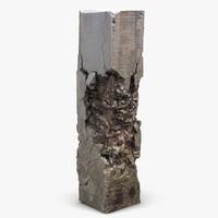 broken column 3d model