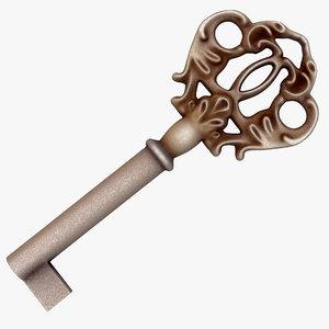 vintage key 3d model