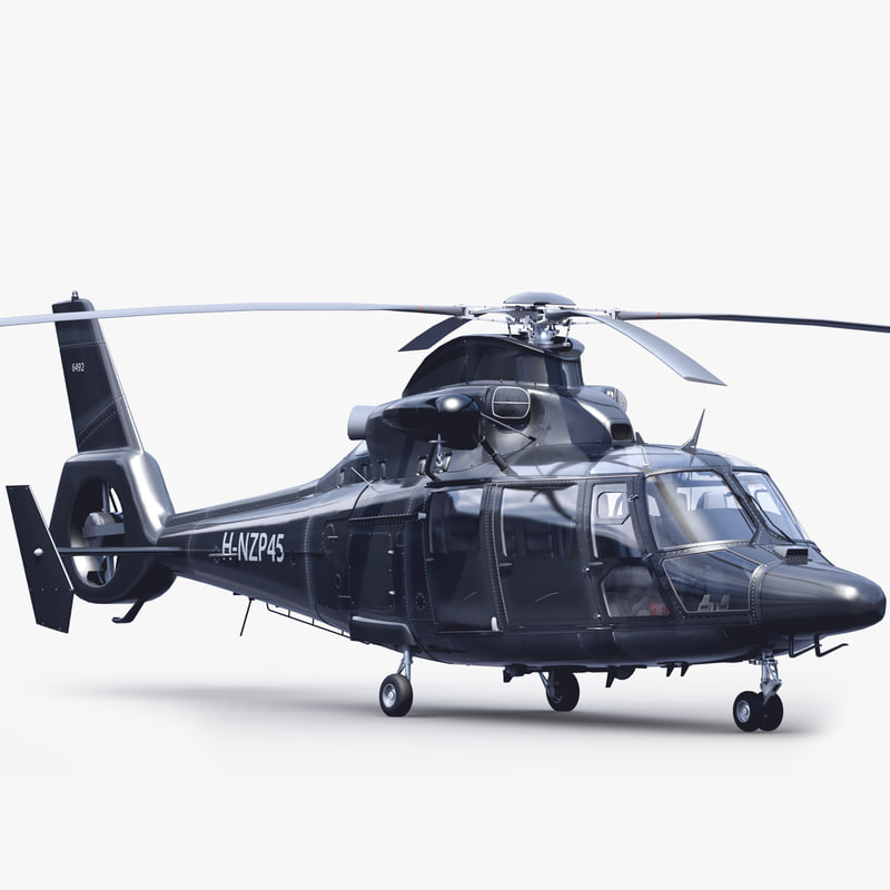 3ds max eurocopter 365 n3 helicopter