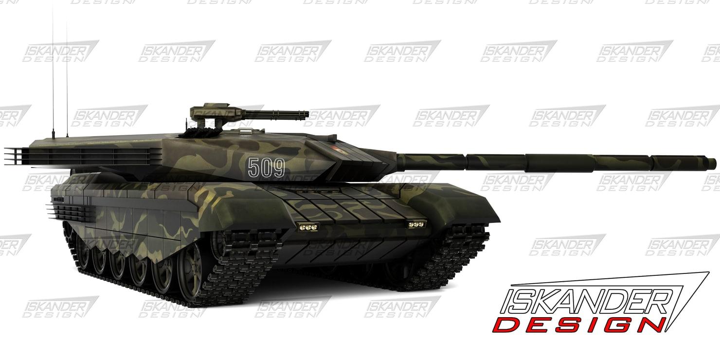 3d model iskander-3m armata russian battle